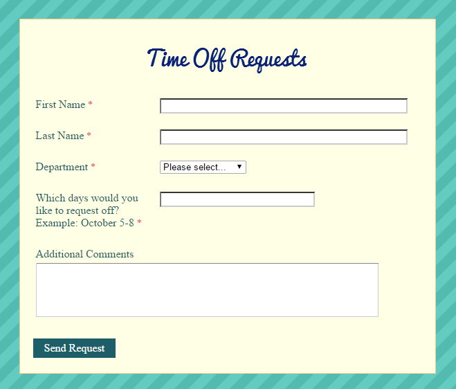 Out of Office Forms the Easy Way – Request off Form